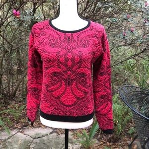Chelsea & Violet brocade pullover sweater XS